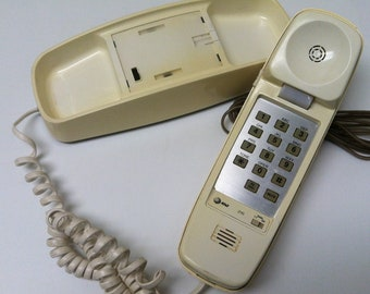 Vintage Retro AT&T 210 Landline Push Button Telephone Home Phone