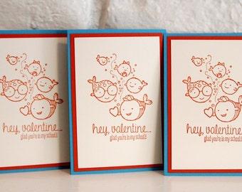 Fish Valentines Card Set, Valentine Cards for Boys, Valentine Cards for Girls, Classroom Valentine Cards, Valentines for School