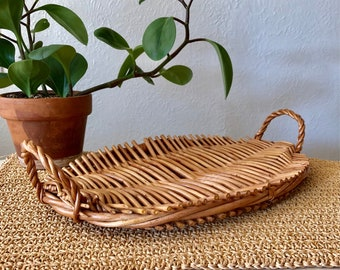 Woven Wood Tray