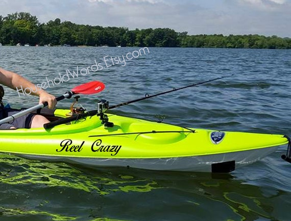Kayak vinyl decal sticker kayak name stickers custom boat