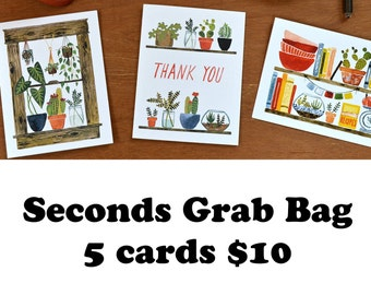 Seconds Grab Bag, 5 cards by Little Truths Studio