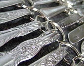 Wholesale Lot - 5 Stainless Steel Keychains, Wholesale Keychains, Stainless Keyrings, Keyrings, Keyfobs, Repurposed Accessories, NuForm Keys