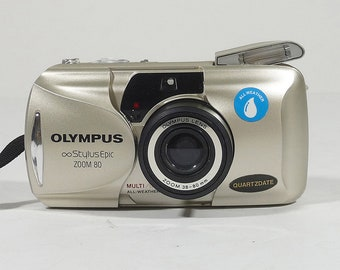 Vintage 90's Olympus Stylus Epic Zoom 80 35mm film point and shoot camera