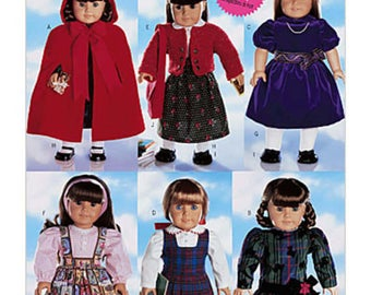 """18"""" AG Doll Clothes Pattern, Butterick 5587- doll Clothes  Dresses fits american Girl Dolls"""