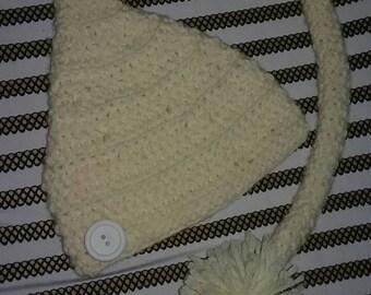 Newborn long tail Hat