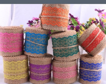 Jute and Lace Ribbon