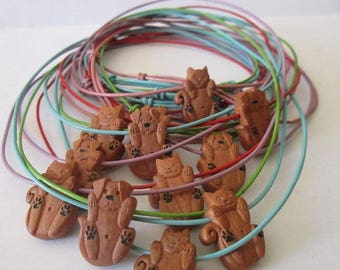 Necklaces for children: puppies and kittens!