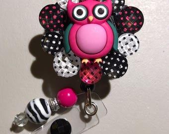 Owl retractable badge reel holder