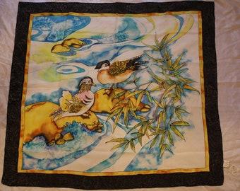 Silk scarves New silk scarf with ducks