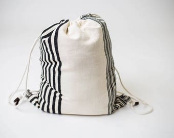On the Go Cotton Drawstring Backpack