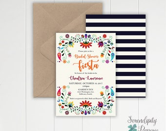 Fiesta Bridal Shower Invitation / Fiesta Engagement Invitation / Mexican Bridal Shower Invitation/ Fiesta invitation