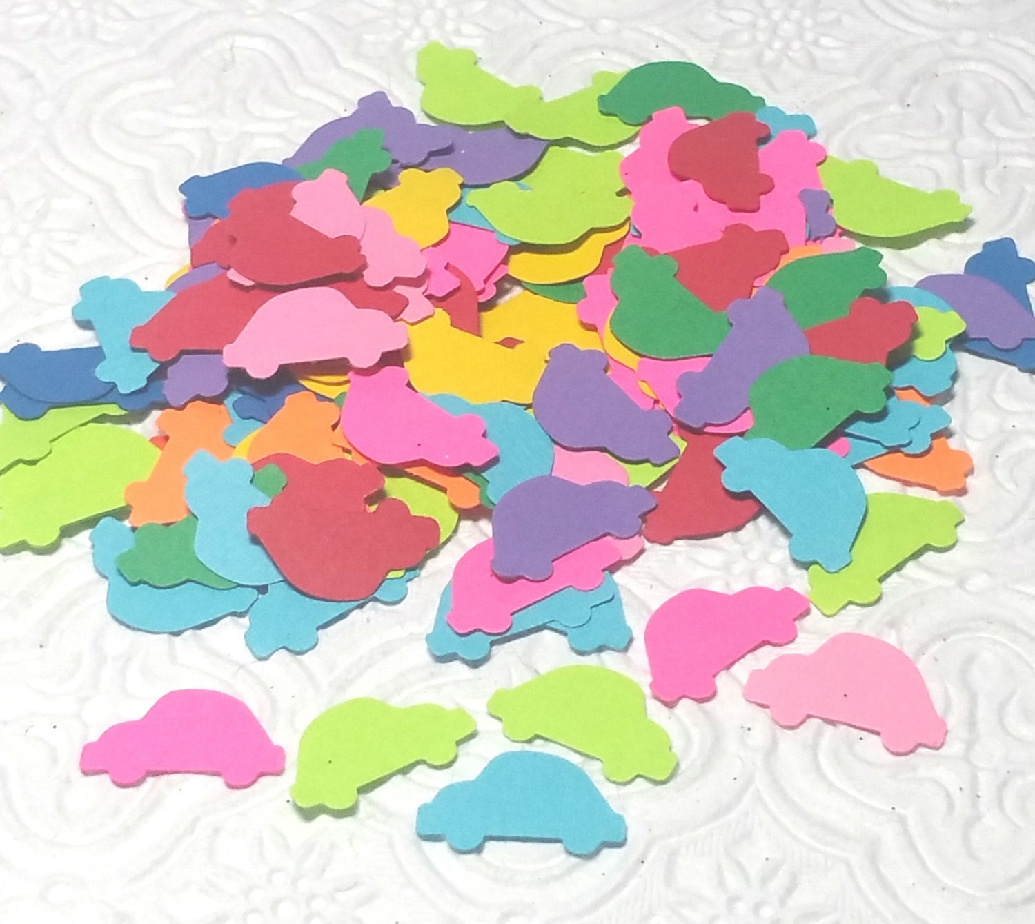 Mini buggies volkswagen beetle 70s 60s confetti for birthday party ...
