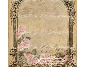 Digital Paper, Shabby Printable Wedding Announcement, Shabby Digital, Vintage DYI Invitation Save a Date Set. No. 631