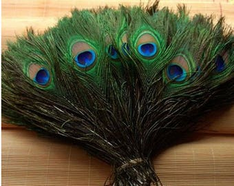 Beautiful!  12-14 inches / 30-35cm Natural Peacock Feather  For Wedding Decoration