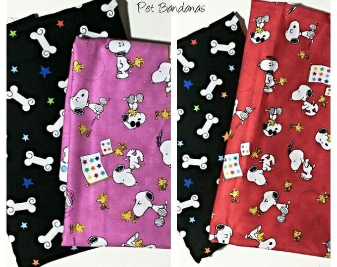 everyday wear, reversible dog scarf, dog bandana, pet scarf, pet bandana, pet attire, pet clothing,summer, reversible, character, snoopy