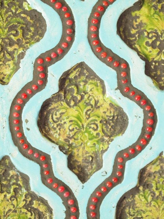 Mosaic Ceramic Wall Art Moroccan Patchwork No.1 Mosaic Art