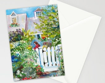 Blank Note Cards, Summer in Kennebunkport, Maine