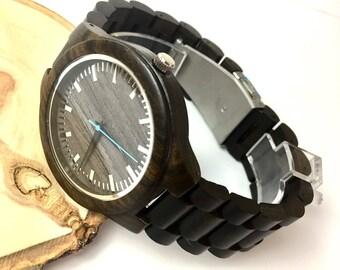 Montre bois pour lui - gravé bois montre-montre personnalisée-petit ami cadeau – anniversaire de mariage cadeau – père du marié,