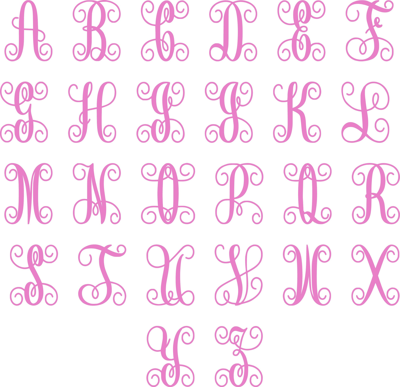 Monogram Single Letter Cookie Cutter Initial Fondant Embosser ...