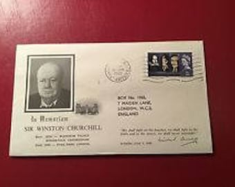 WINSTON CHURCHILL MEMORIAL Cacheted Cover Great Britain 1/24/1965