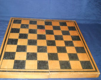 Large Wooden Chess Box Without Chess Pieces.