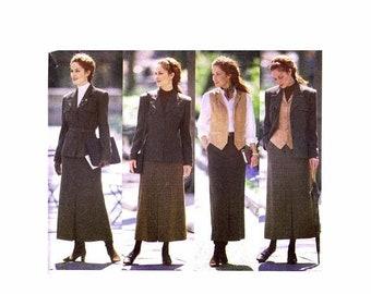 SALE Misses Jacket Belts Vest Skirt J.G. Hook Butterick 5752 Sewing Pattern Size 6 - 8 - 10 Or Size 18 - 20 - 22 Uncut