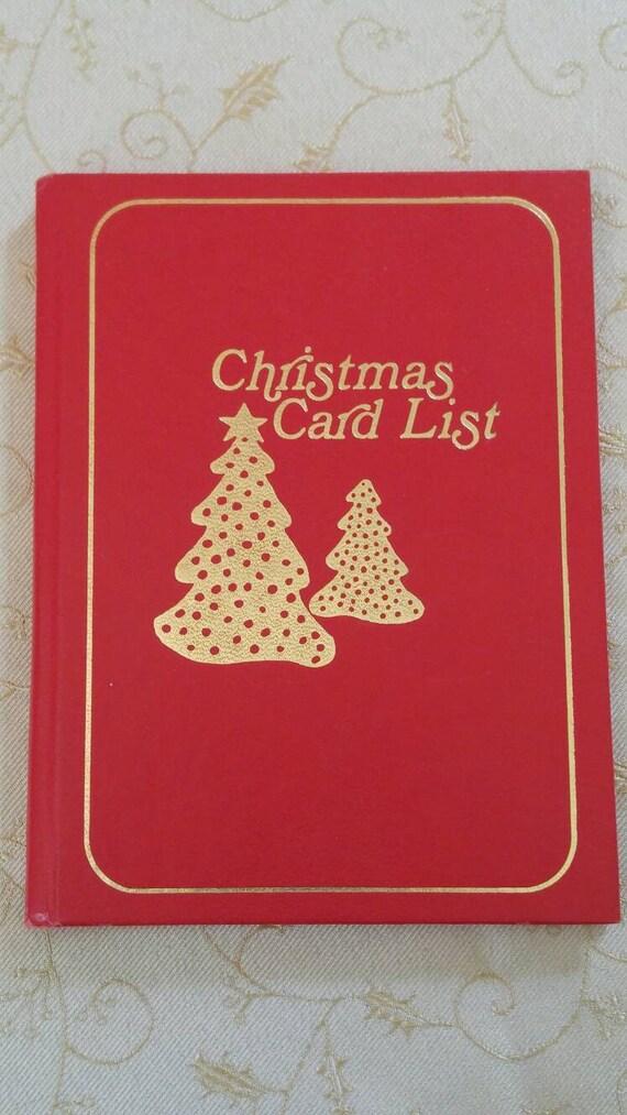 vintage christmas card list address book