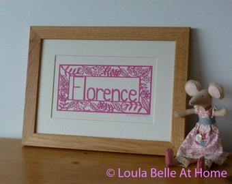 Personalized Name Paper Cut
