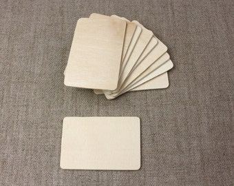 Rectangle Wood Shapes//wood tags//blank wood rectangles//natural wood tags -  10 pieces