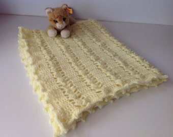 Baby Blanket, yellow, 32 x 25""
