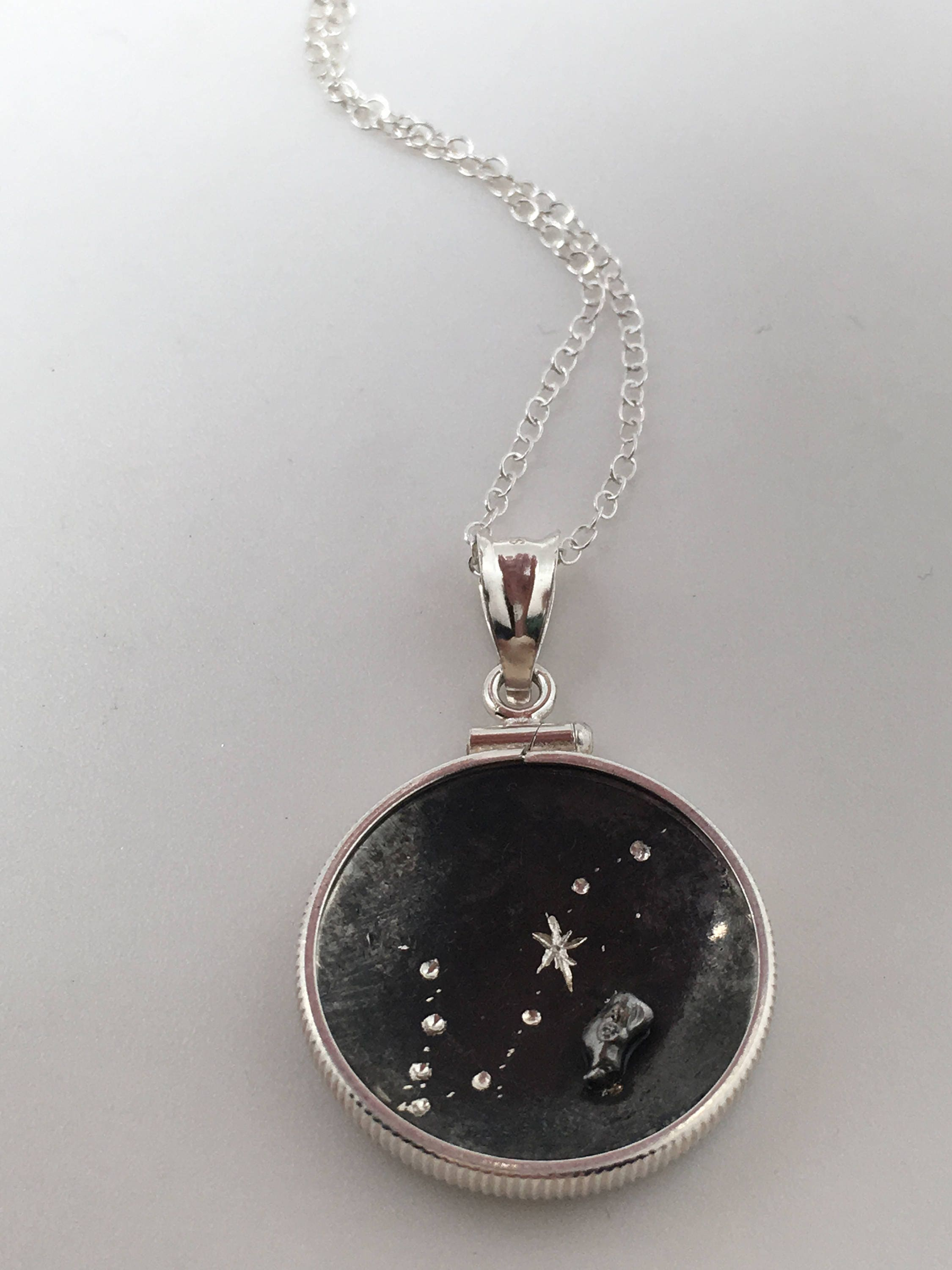 aries listing il zodiac photo leo jewelry pendant necklace gallery fullxfull space outer meteorite