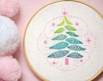 Hand embroidery patterns, Christmas hand embroidery, christmas decorations, beginner embroidery, Embroidery pattern PDF  by NaiveNeedle