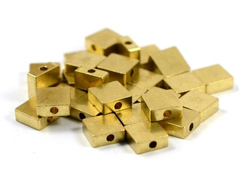 Stick Thick 2mm Distance Between Bar 52 mm 2 Pcs Solid Brass Collar Screw  Bar 68 mm Length
