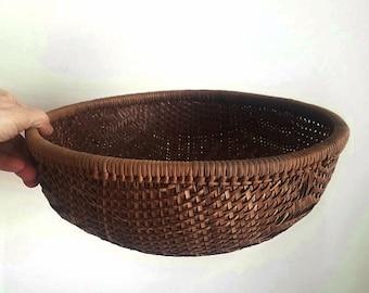 Large Winnowing Basket, Woven Basket, Wall Basket, Boho Storage, Bohemian Style, Fruit Basket