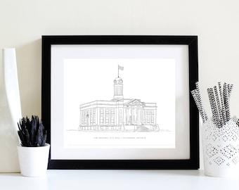 Original Kitchener City Hall - BW