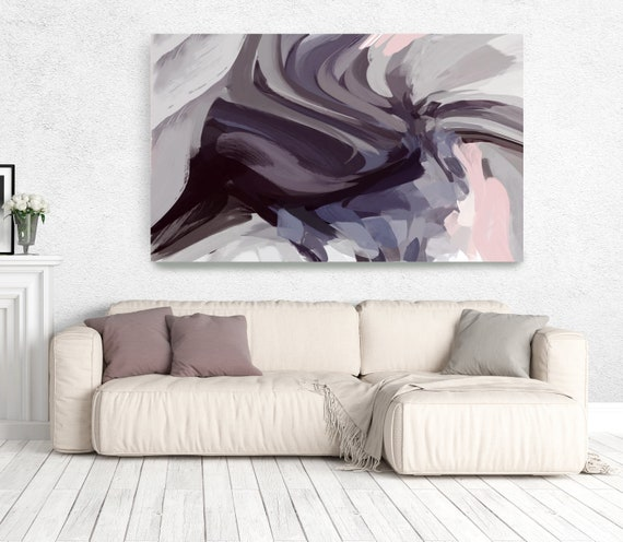 """The Color Movement 8, Abstract Painting Modern Wall Art Painting Canvas Art Print Art Modern Pink Purple Blue up to 80"""" by Irena Orlov"""