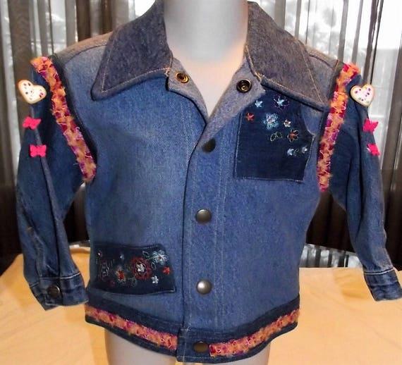 Refurbished denim jacket, Size 24mo