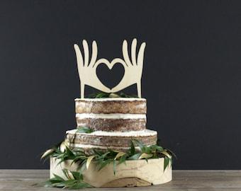 Wedding Cake Topper - Cake Decor - Wood Cake Topper