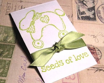 Baby Shower - Favors - Wildflower Seeds - Baby Shower Wildflower Seed Favors - Bunny
