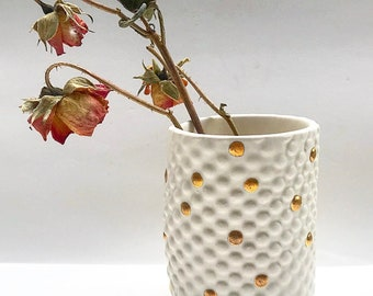 Dimpled Tumbler in White