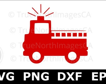 Fire Truck SVG / Firetruck SVG / Fire Truck Clipart / Fire Engine SVG / svg files for Cricut / Silhouette Files