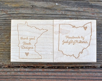 State Rubber Stamp - Handmade In - Custom Stamp - Customized Stamp - Personalized Stamp
