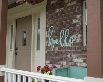 "29""x23"" Unfinished Hello MDF Word Cutout 
