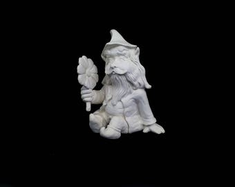 Sitting Gnome with Flower