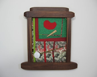 Small Improv Quilt in Walnut Frame by pam beal and wayne walma