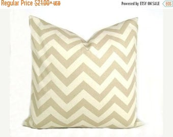 15% Off Sale PILLOW, Euro Pillow, Euro Pillow Cover, Tan Pillow, Chevron Pillow, Cream Pillow,  Euro Sham, Accent pillow, Couch Pillow