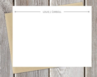 Modern Professional Personalized Stationery - Simple Name - Just Because Stationary