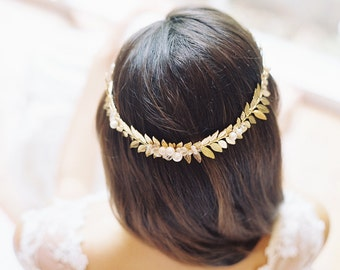 Laurel crown wedding headpiece, hair accessory, Roman crown - Style Flavia 1932