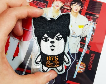 BTS Bangtan Boys Jin Member Caricature Character Sew on Embroidered Patch