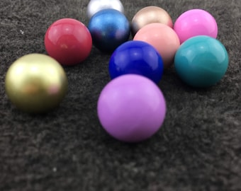 5 PCS 16 mm Round Chime Ball, Harmony Ball Mexico Bola Chime Beads Pendant ,Angel Caller Balls for Pregnancy Mom QY002